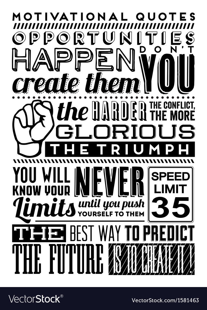 Set Of Retro Vintage Motivational Quotes Vector Image