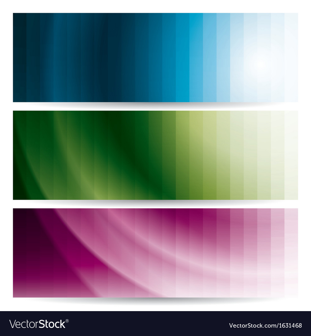 Abstract wavy banners with stripes vector image