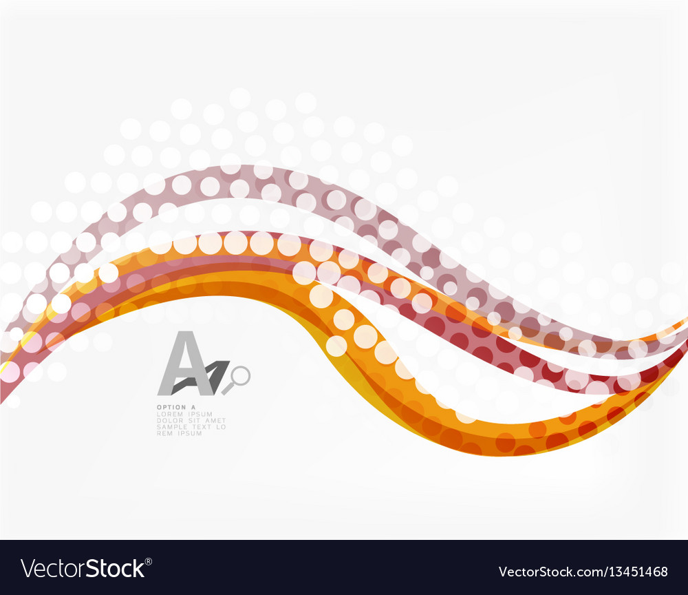 Abstract wavy lines with transparent dots
