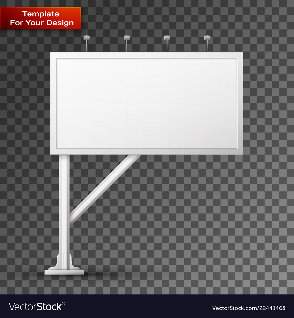 Blank billboard screen isolated