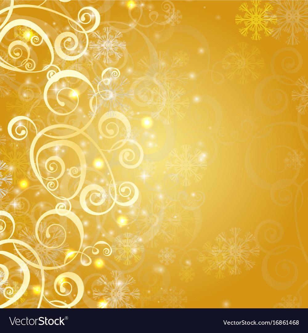 Elegant Christmas Gold Background Royalty Free Vector Image