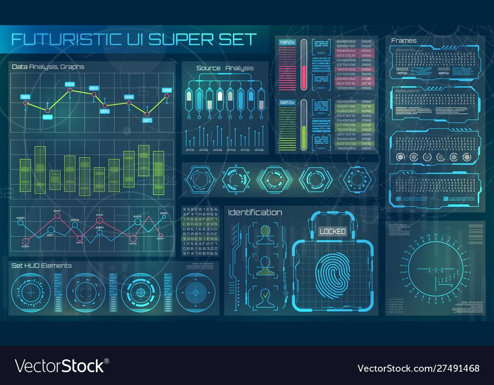 Futuristic user interface hud infographic