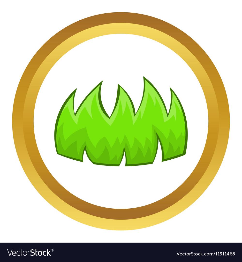 Green grass icon vector image