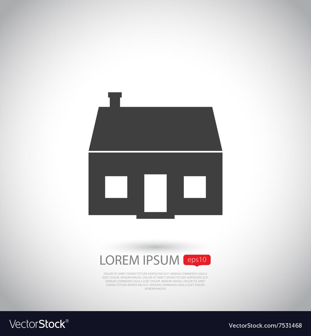House icon Flat design