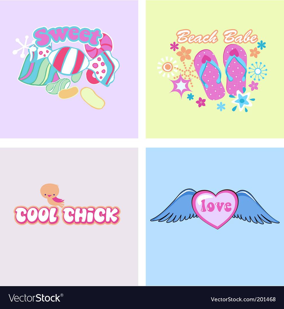 Kids graphics vector image