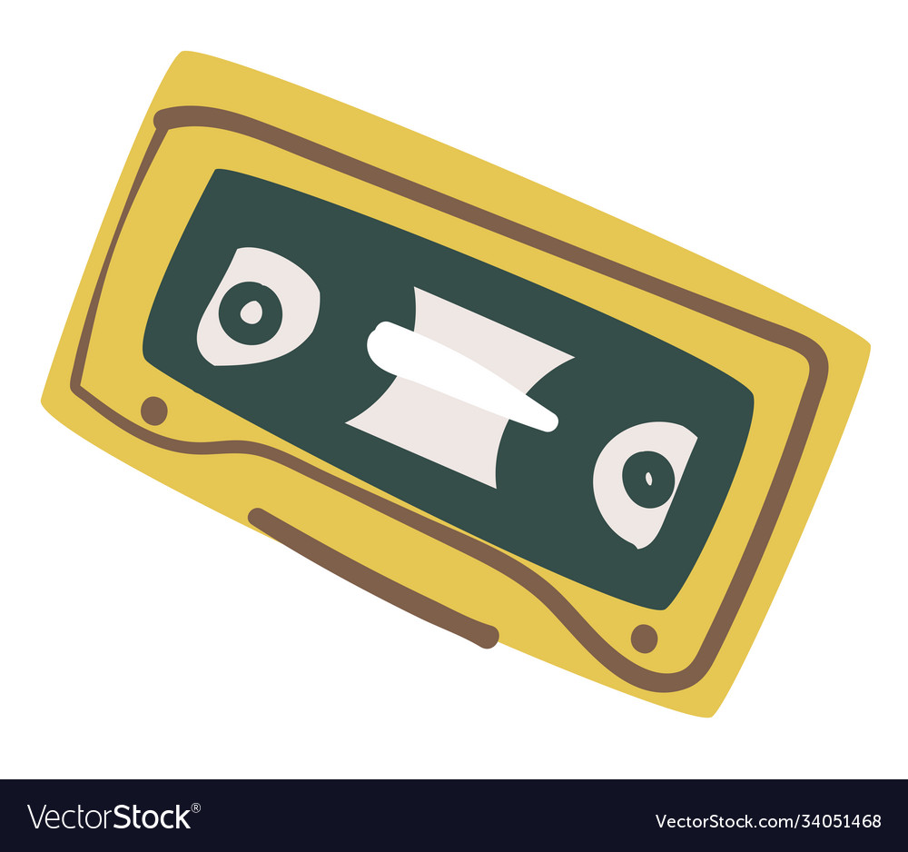 Old audio cassette recording 90s music tape