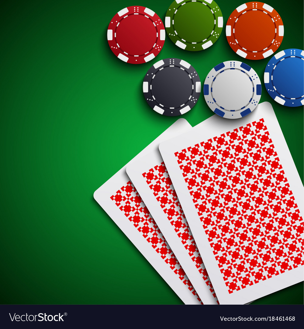 Poker chips with the cards on the table vector image  sc 1 st  VectorStock & Poker chips with the cards on the table Royalty Free Vector