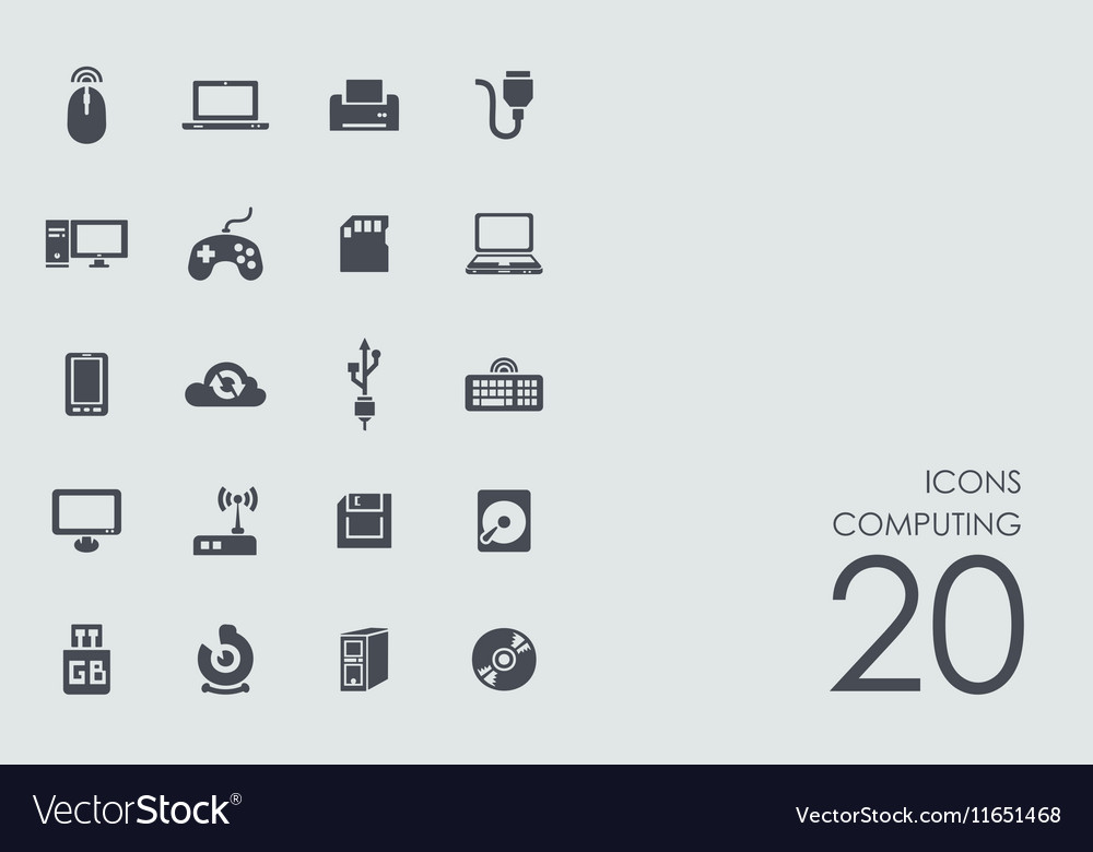 Set of computing icons