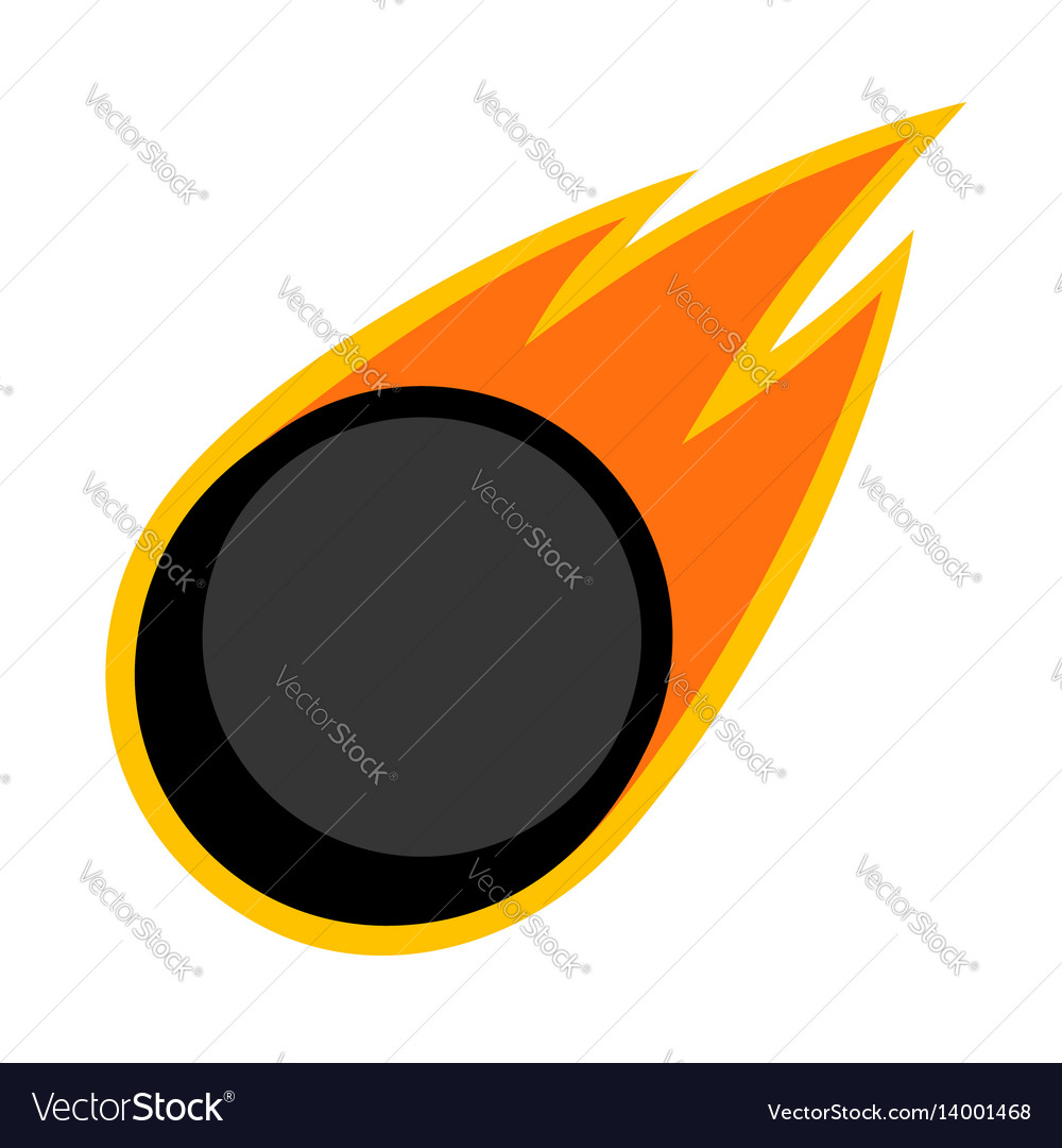 Sport ball fire ice hockey