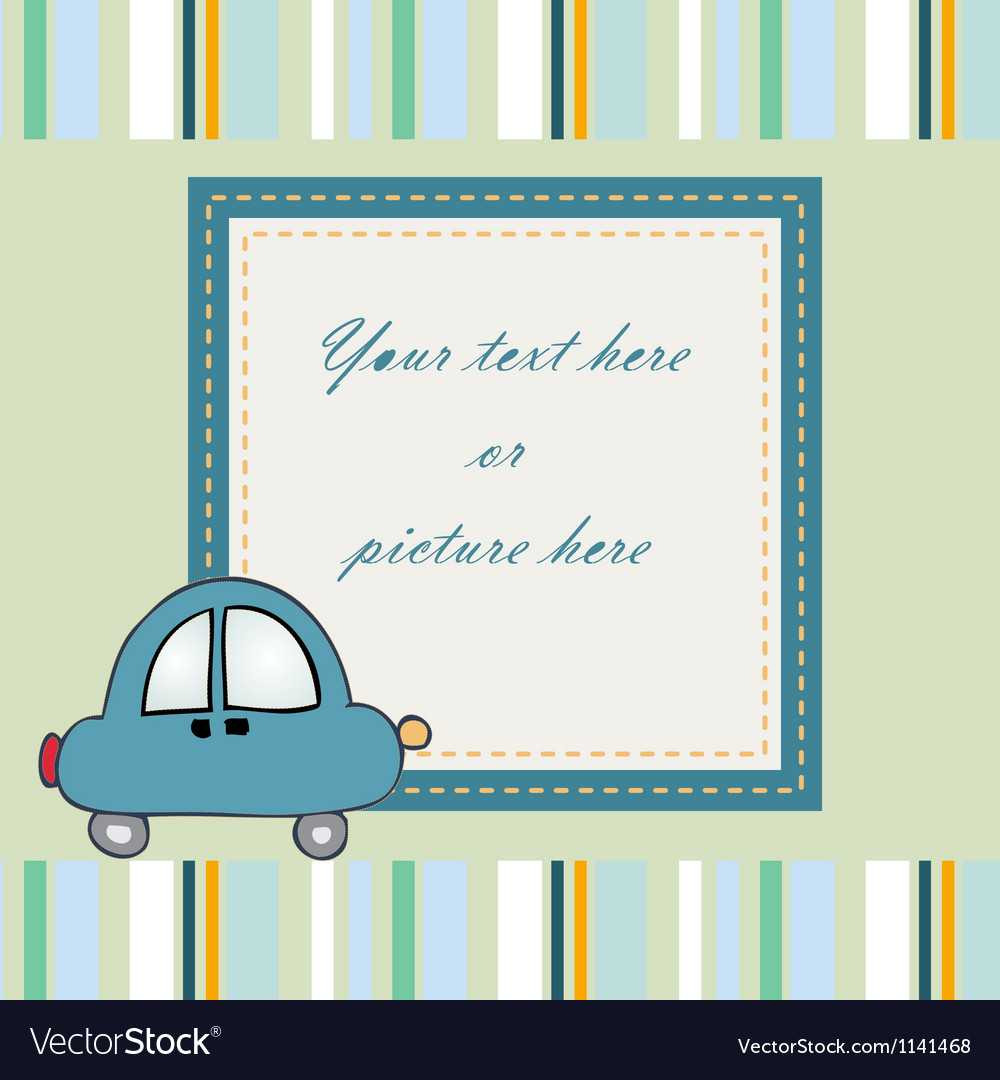 Sweet baby card or frame Royalty Free Vector Image