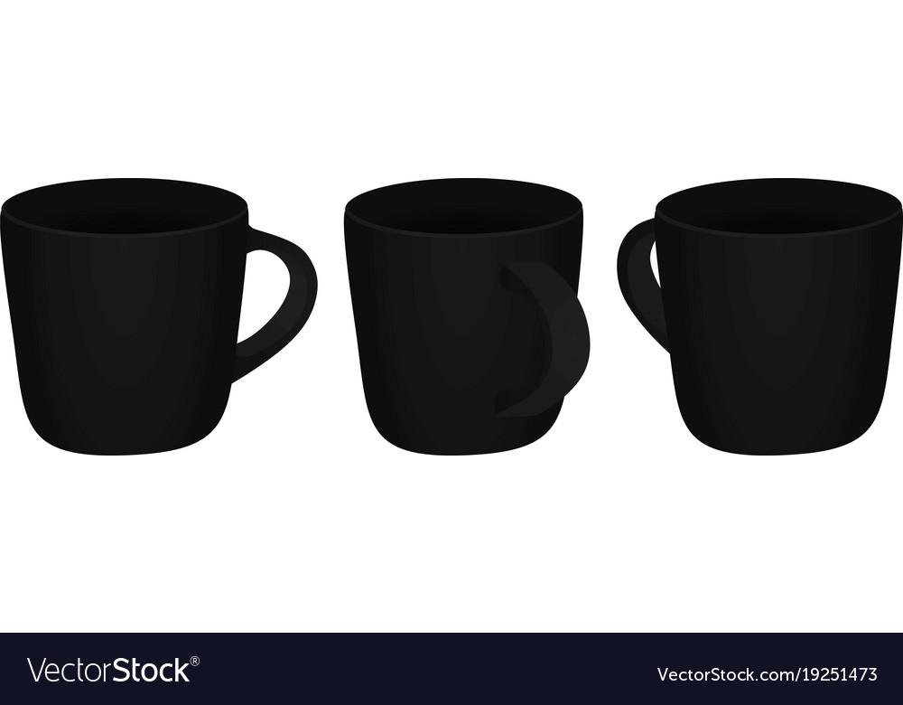 Black mug template Royalty Free Vector Image - VectorStock