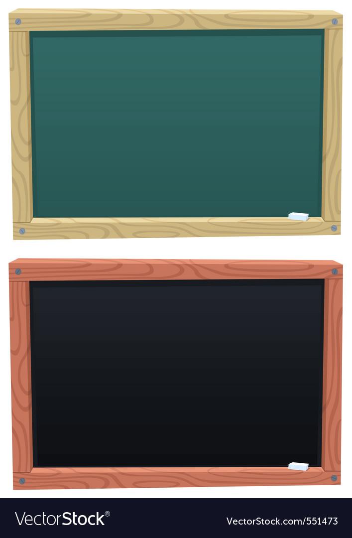 Blackboard vector image