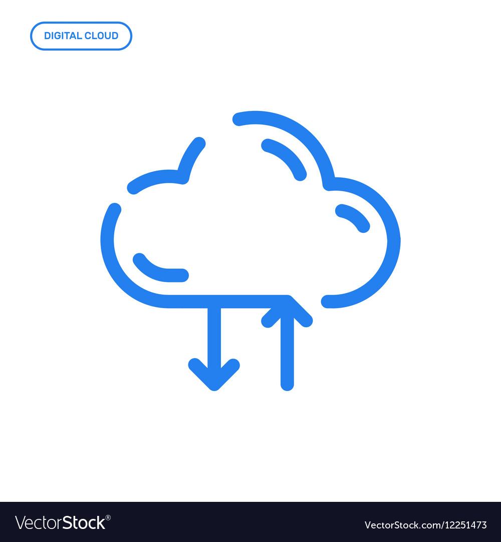 Flat Line icon Graphic vector image