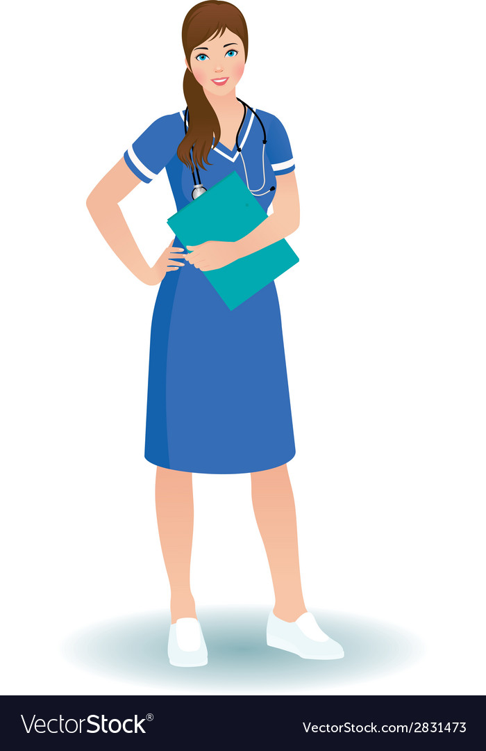 Women nurse or doctor in full length