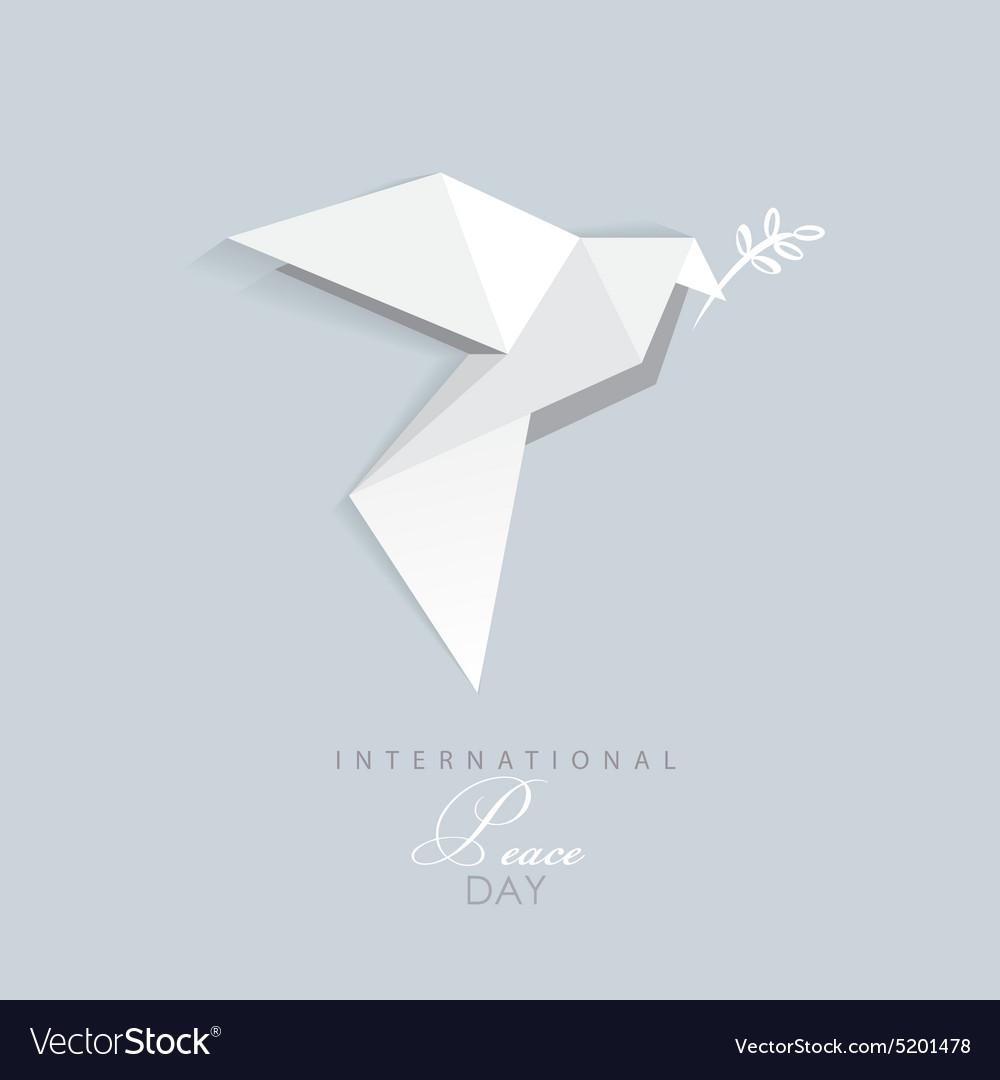 3d origami low polygon dove