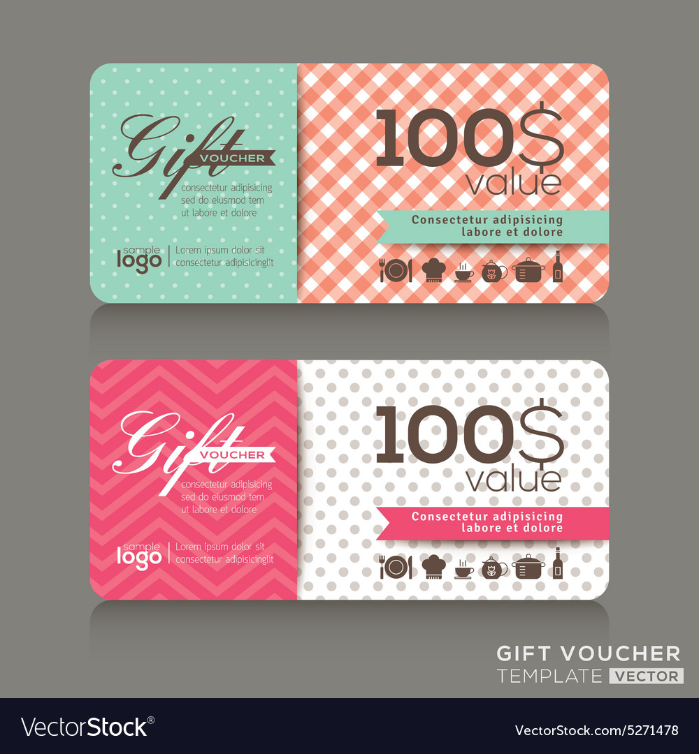Cute gift voucher certificate coupon template