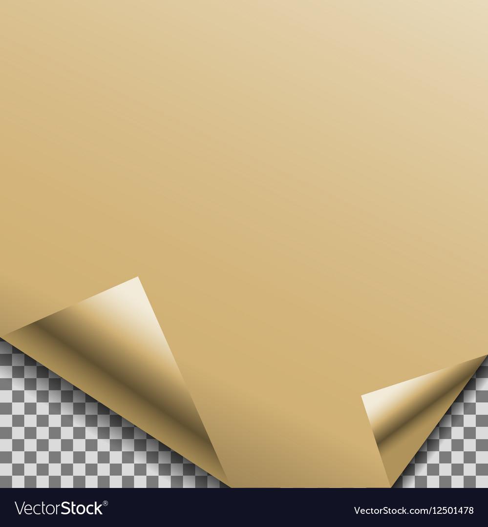 Folded gold foil blank note planner sticker