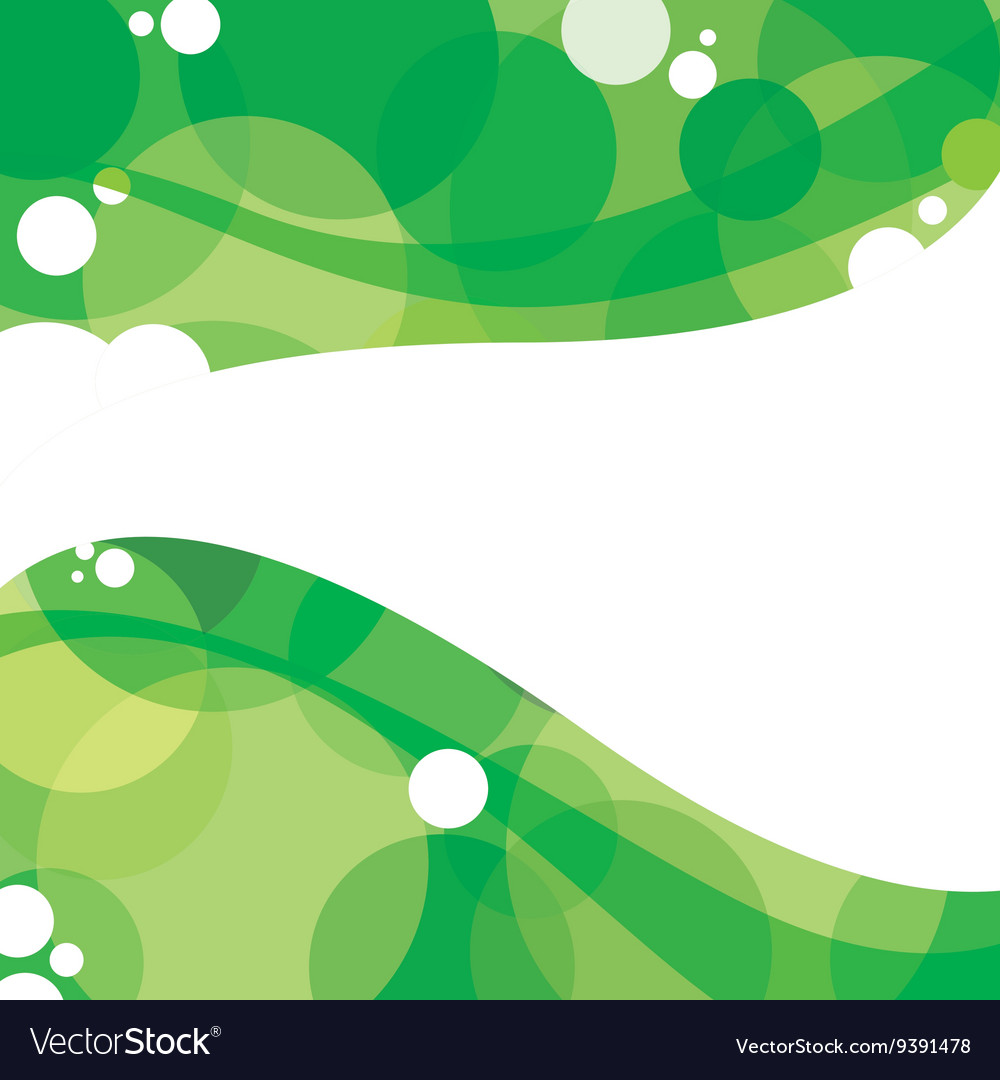 Green Graphic Background With White Space vector image