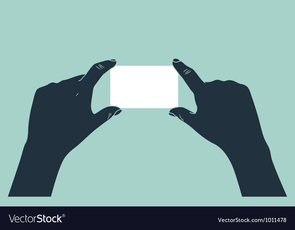 Hand showing blank business card