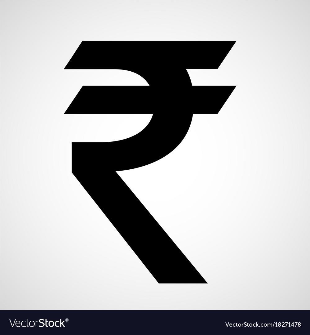 Indian Rupee Icon Royalty Free Vector Image Vectorstock