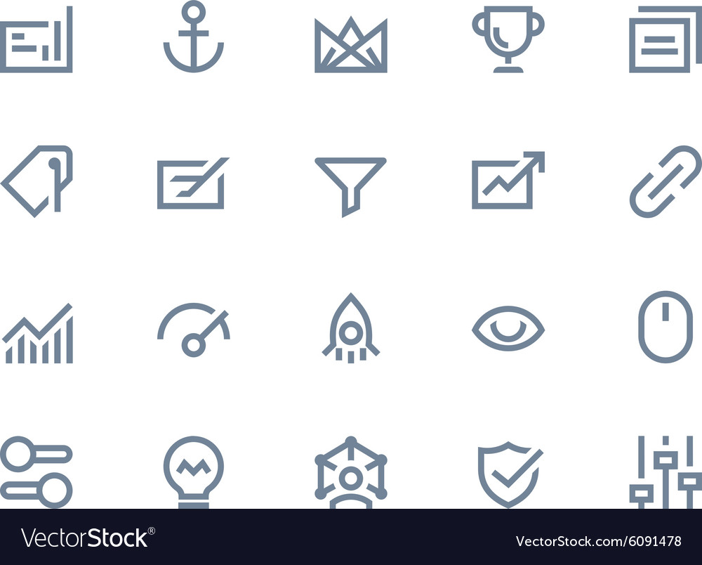 Search optimization icons Line series