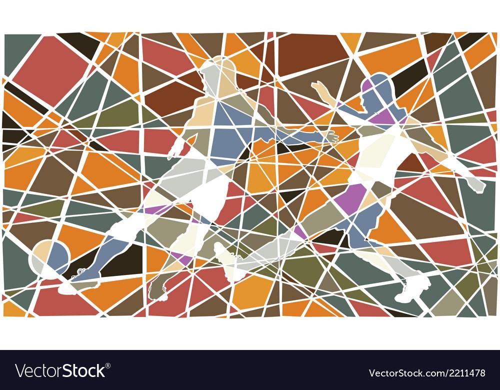 Soccer player mosaic