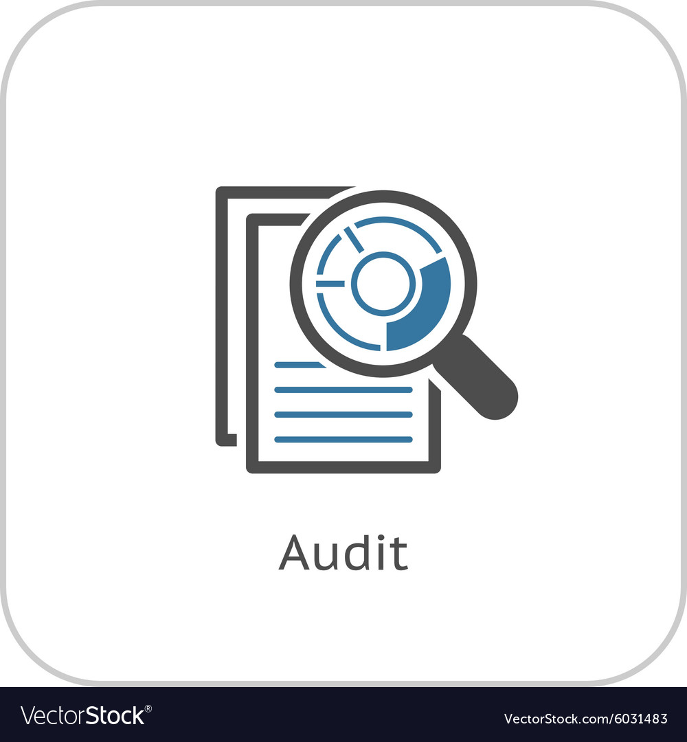 Audit Icon Business Concept Flat Design vector image
