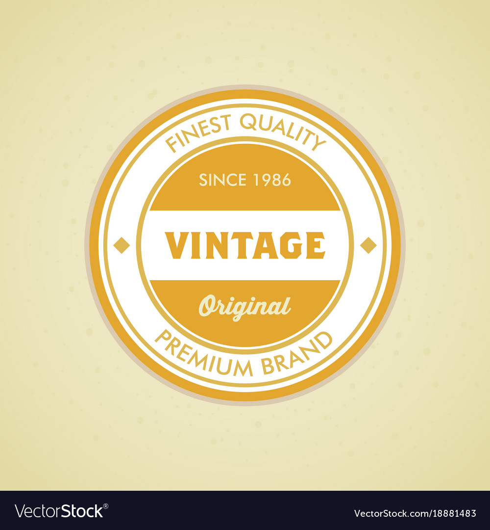 Colorful vintage hipster logo design template vector image maxwellsz