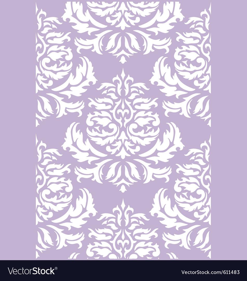 Damask floral wallpaper vector image