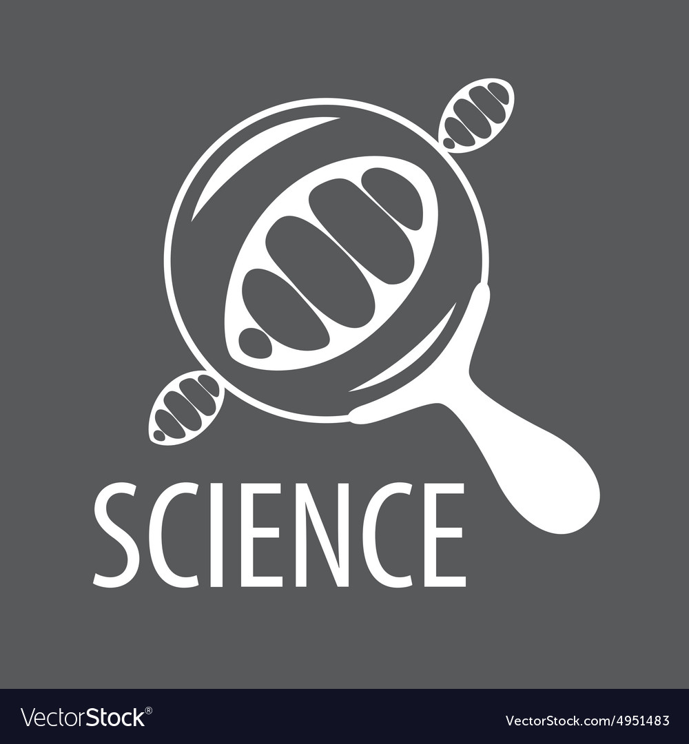Logo DNA through a magnifying glass vector image