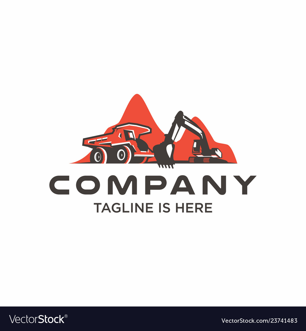 Mining industry logo template vector image