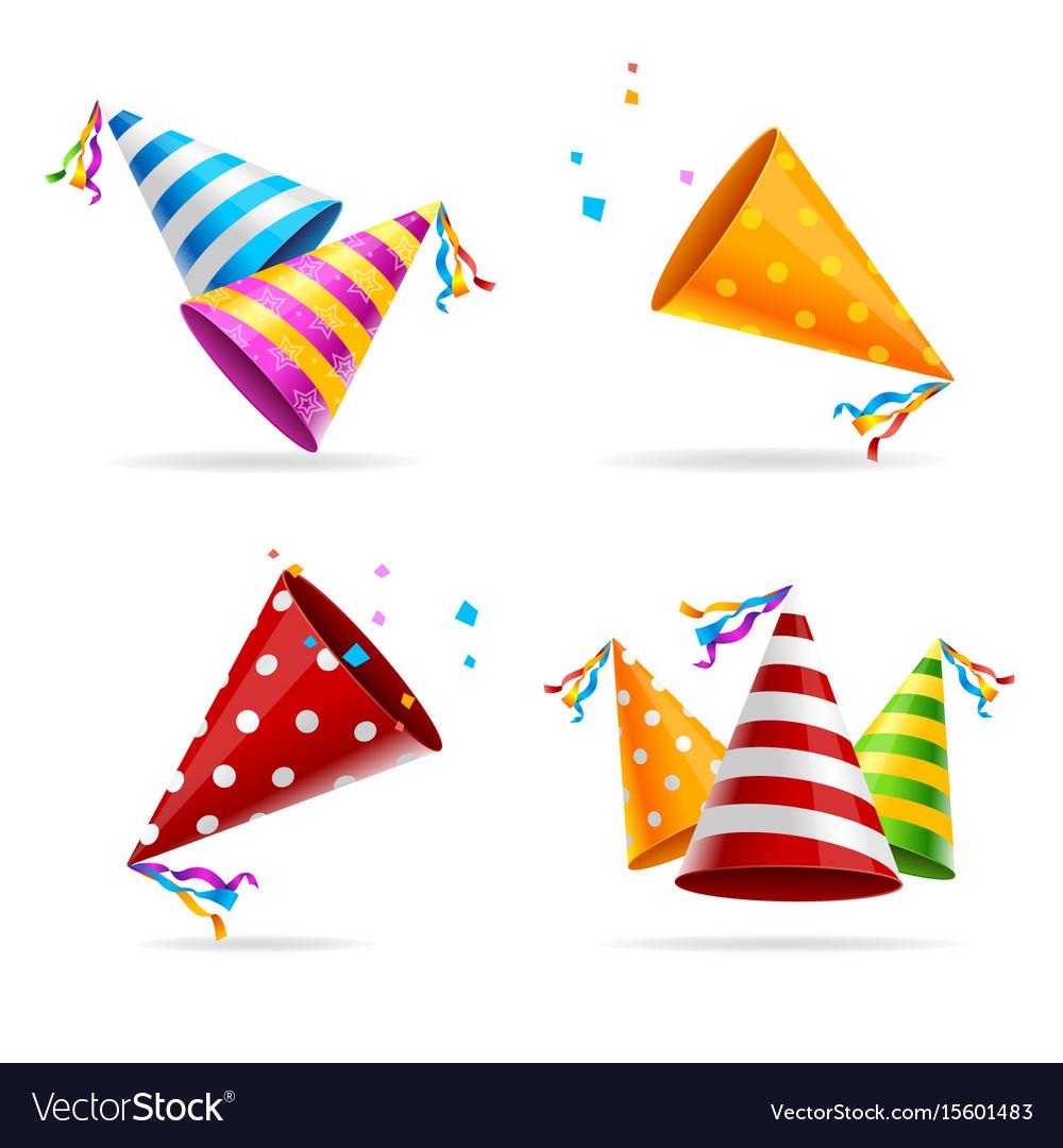 Party hat color set