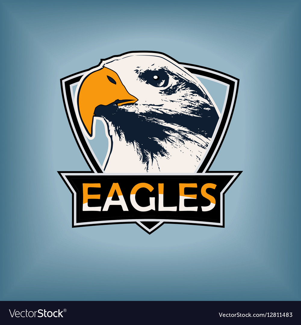 Professional sports logo emblem template with the