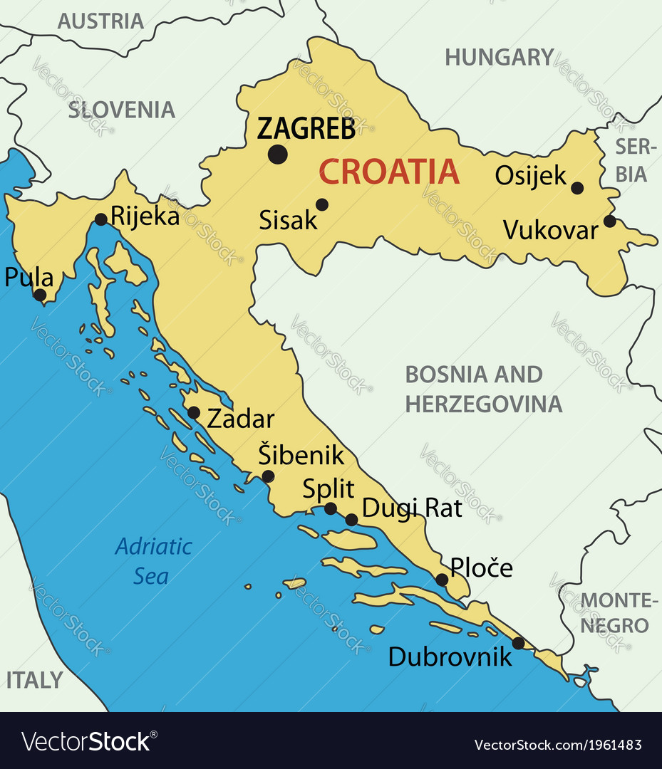 Republic of croatia map royalty free vector image republic of croatia map vector image gumiabroncs Images
