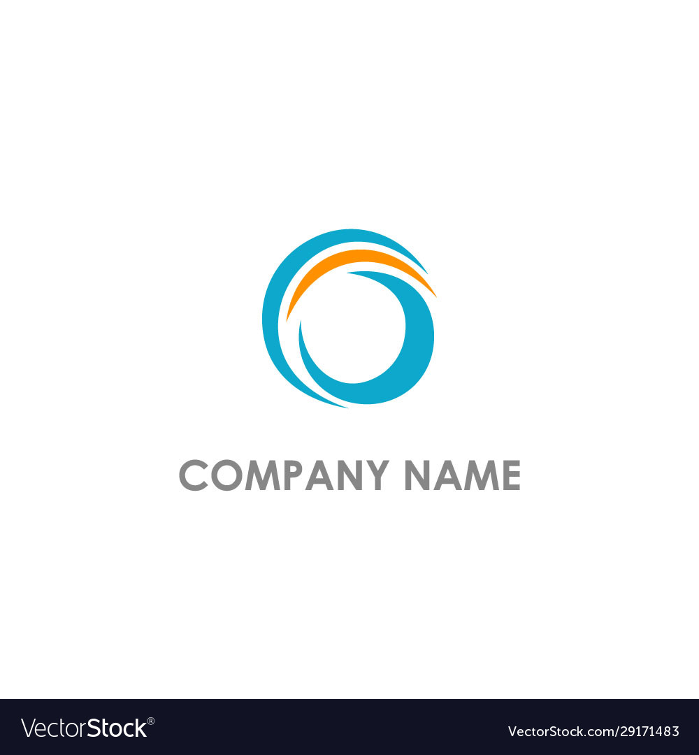 Round abstract curve logo