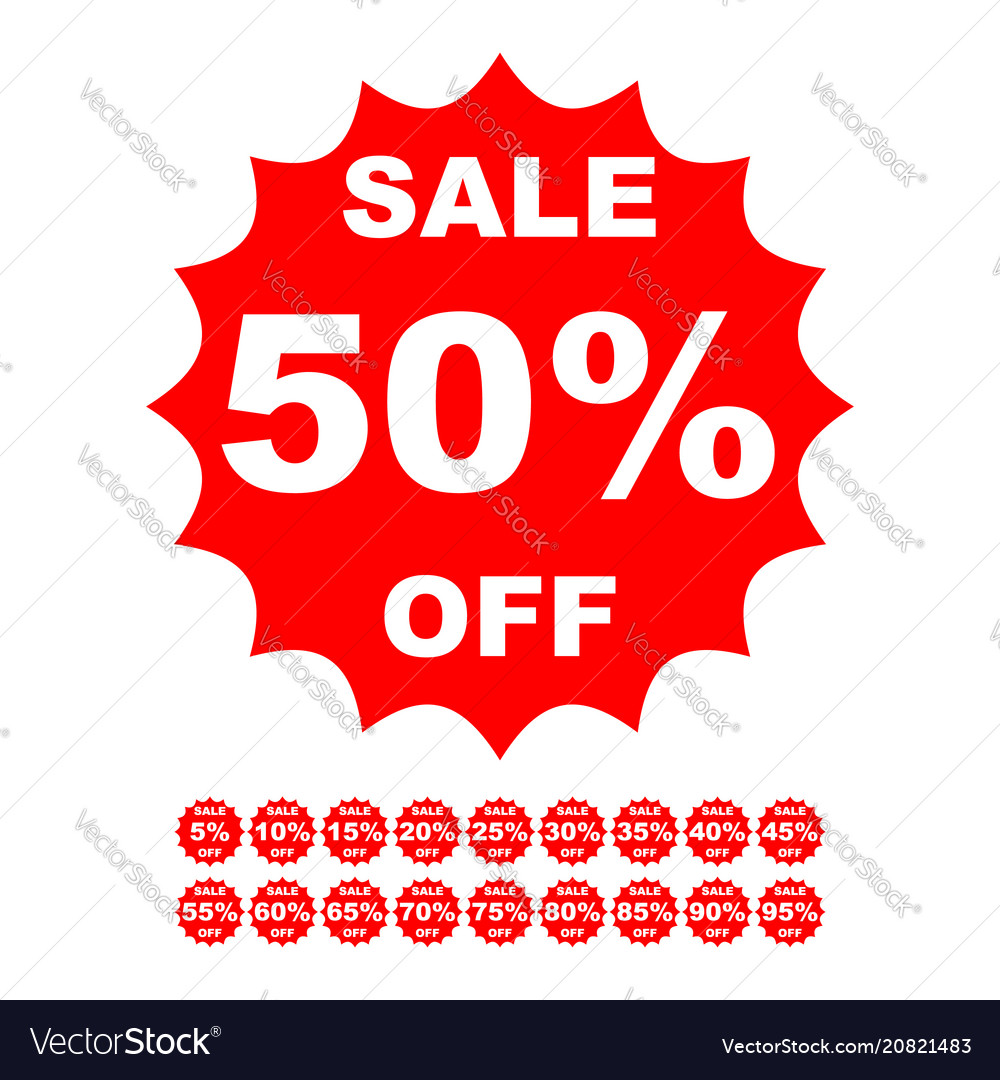Special offer sale red tag discount price label