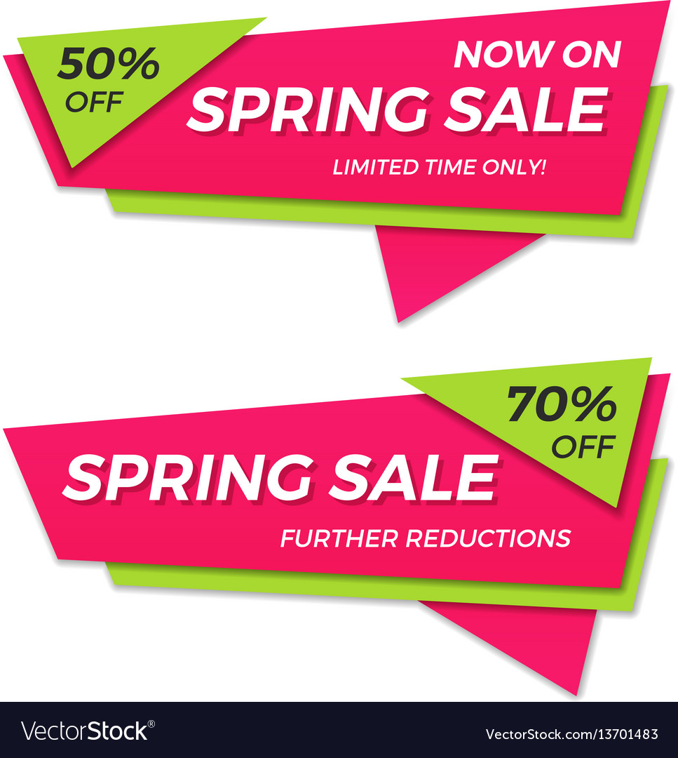 Spring sale label price tag banner badge template