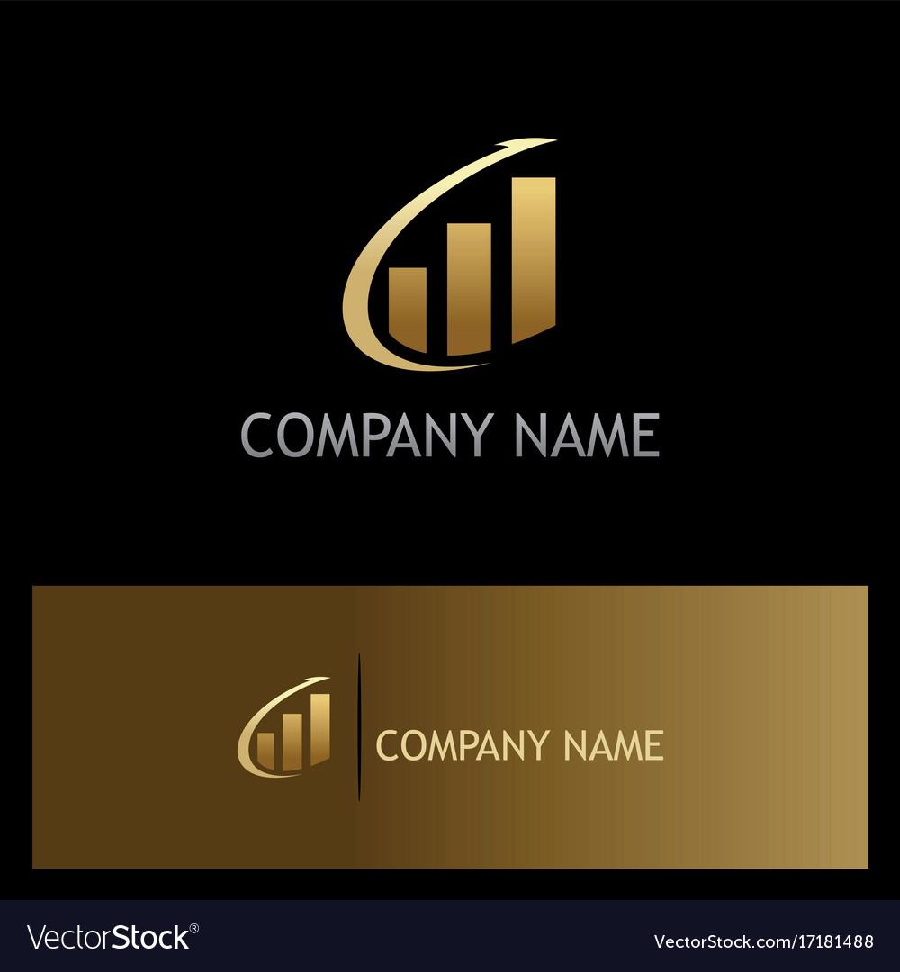 Arrow progress business finance gold logo
