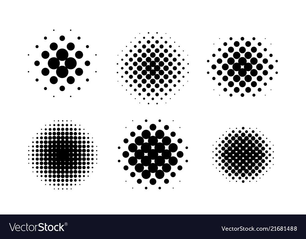 Black circle halftone set