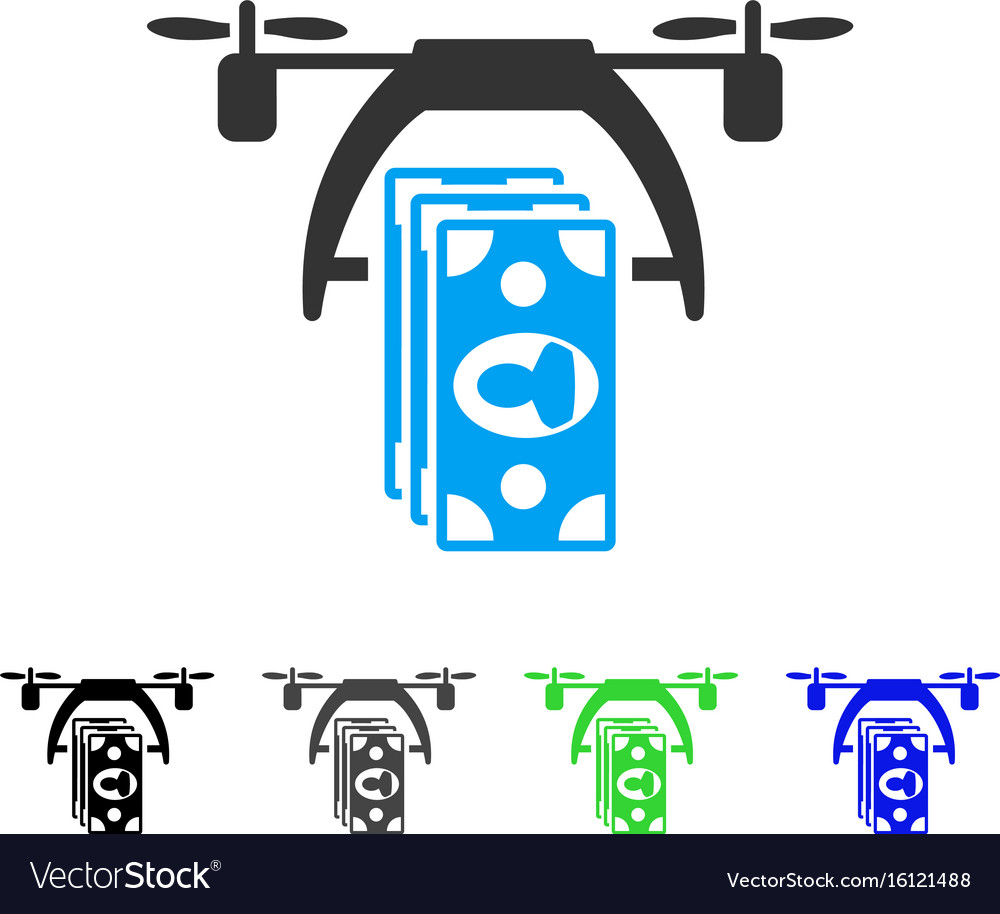Drone payment flat icon