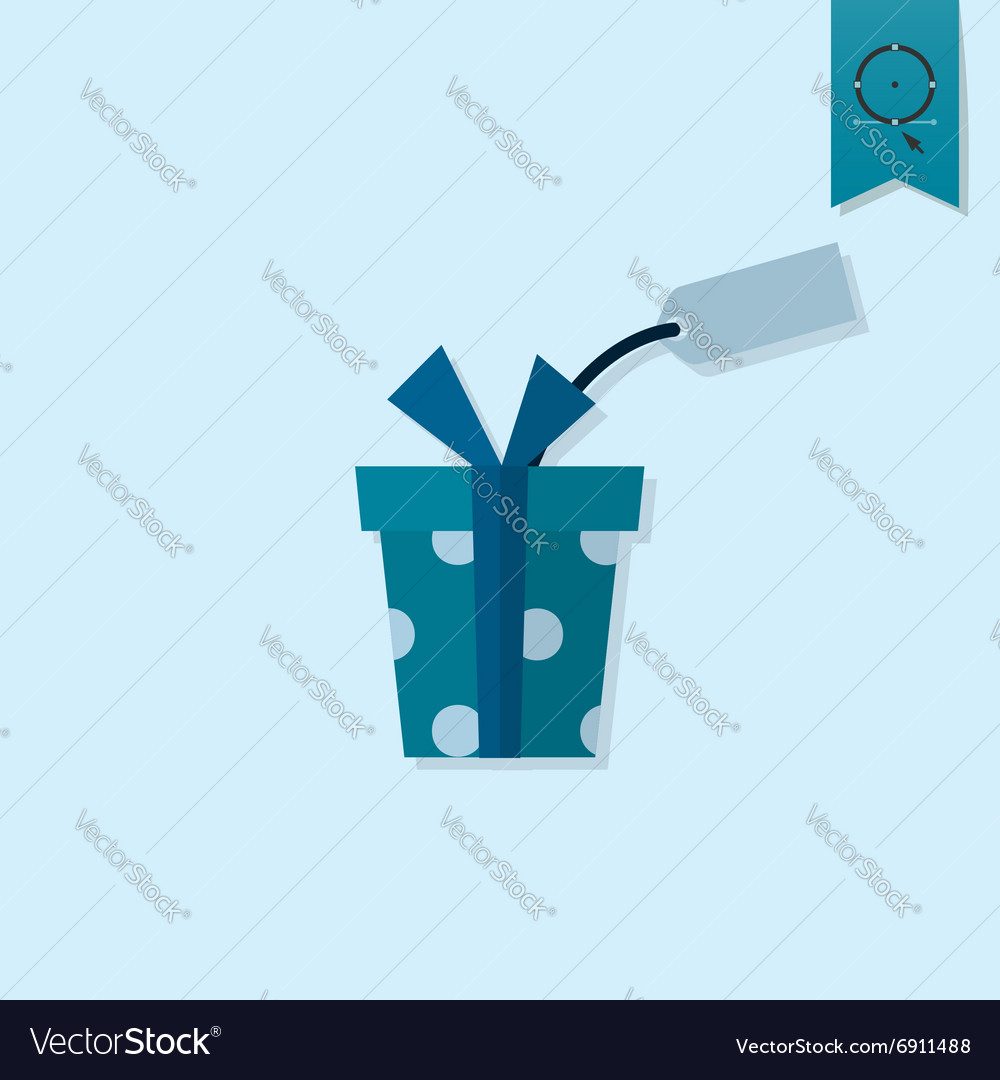 Gift Box With Tag vector image