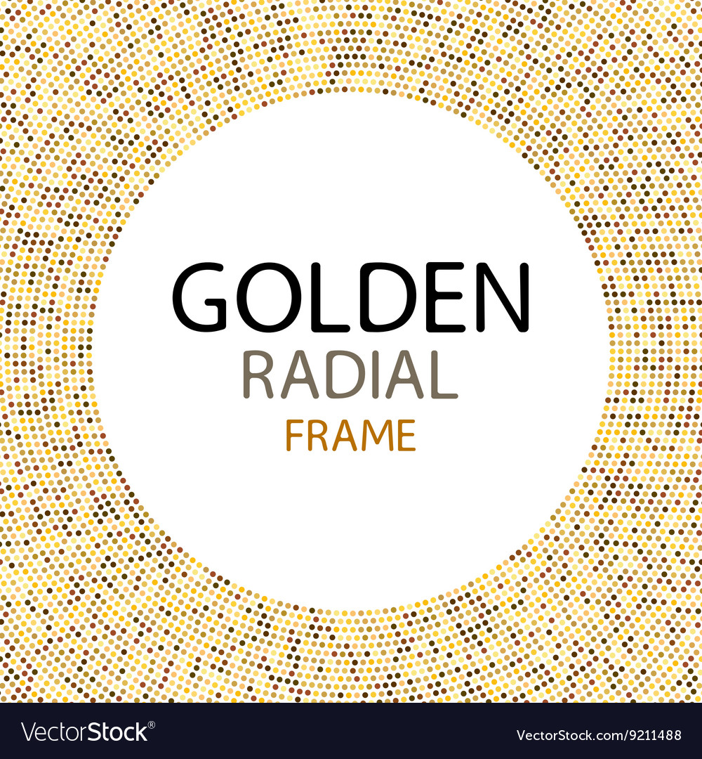 Gold disco lights frame or spangles round