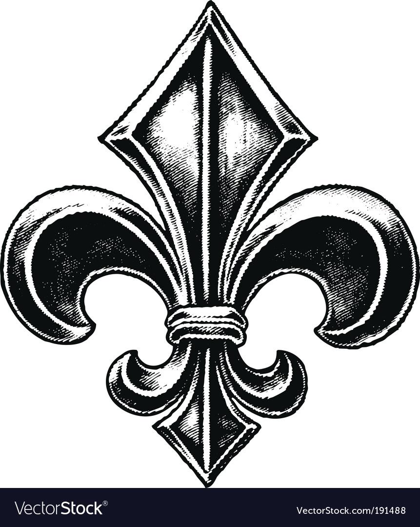 Gothic fleur vector image