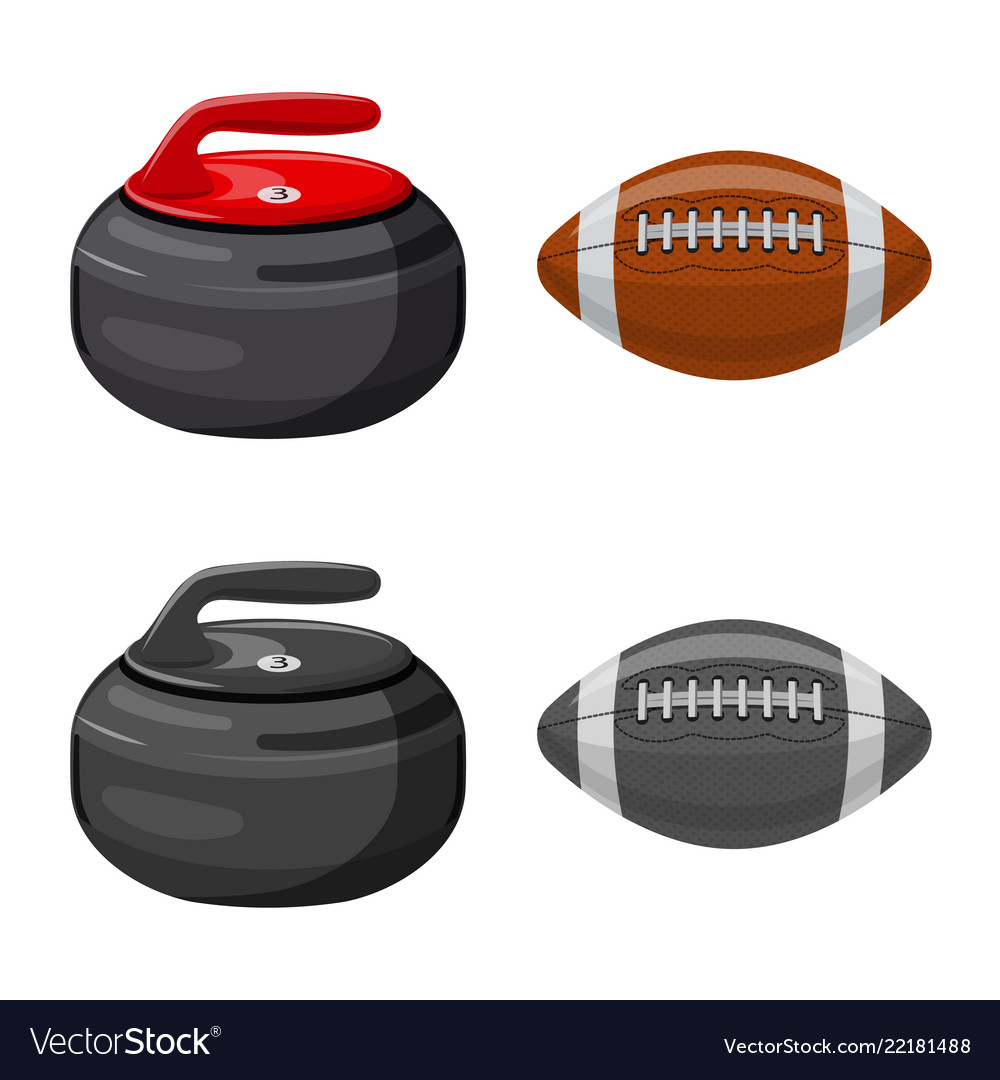 Isolated object of sport and ball logo collection
