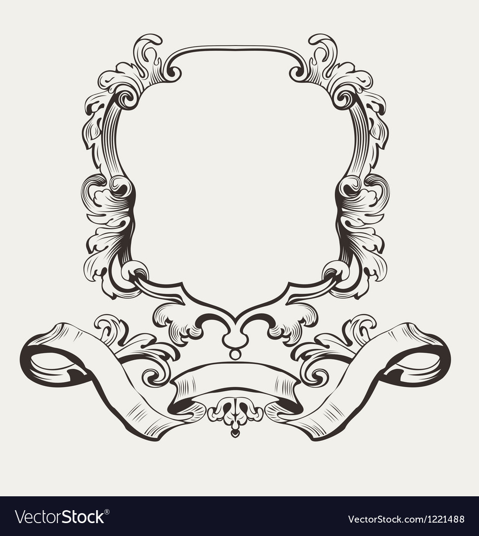 Of Decorative Frame And Banner vector image