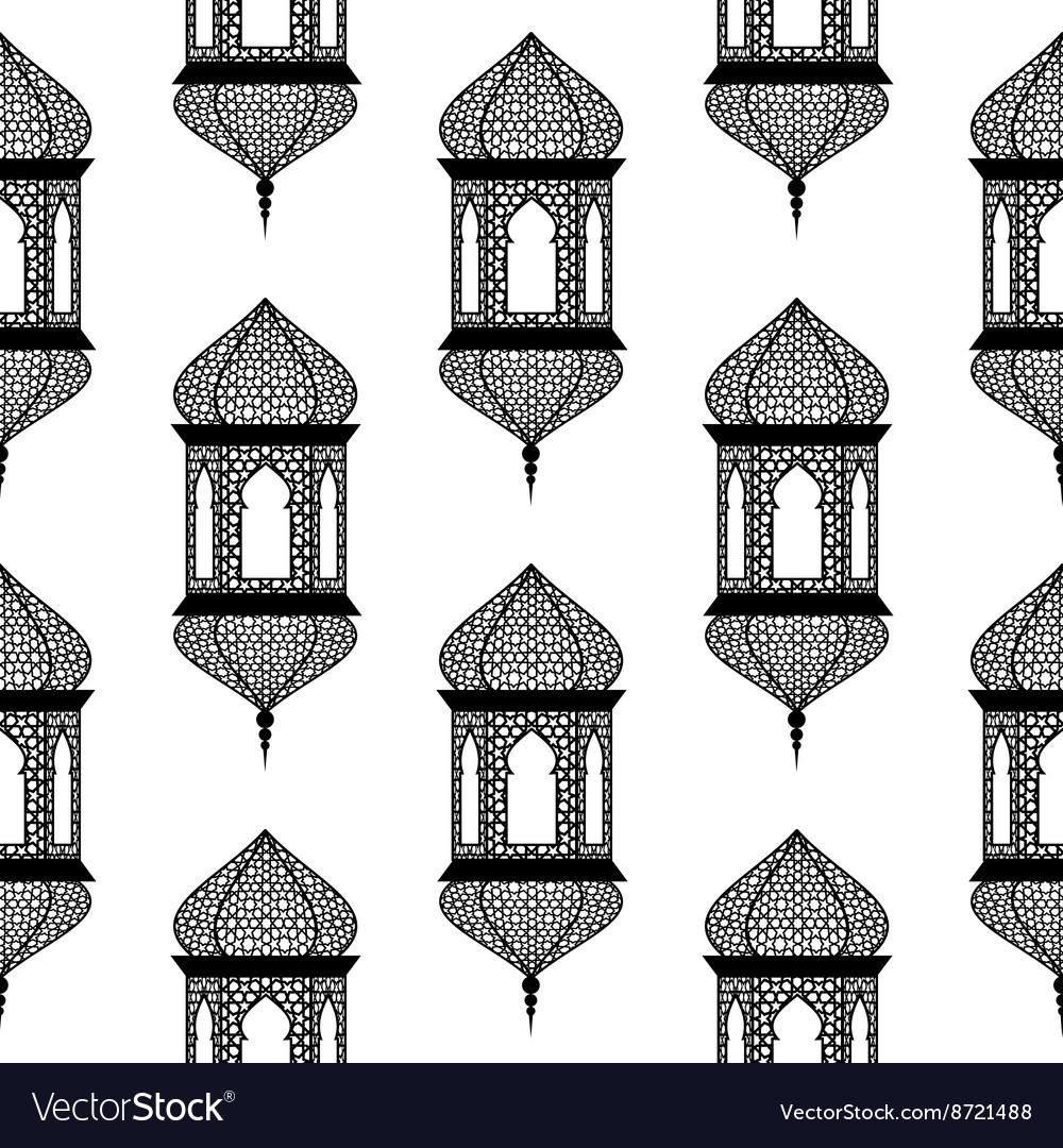 ramadan lantern pattern  Seamless of ramadan lantern