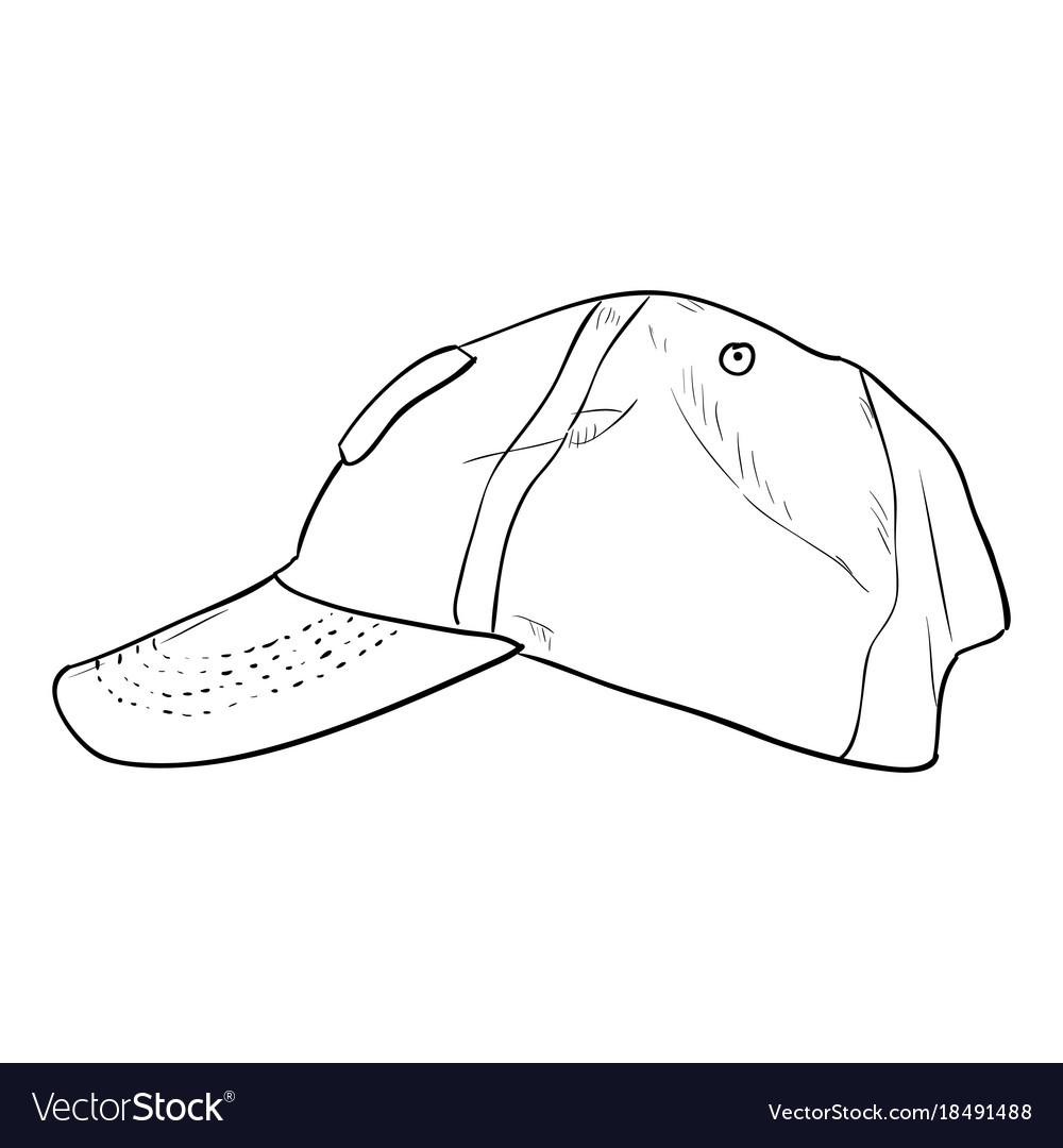 Sketch cap template Royalty Free Vector Image - VectorStock