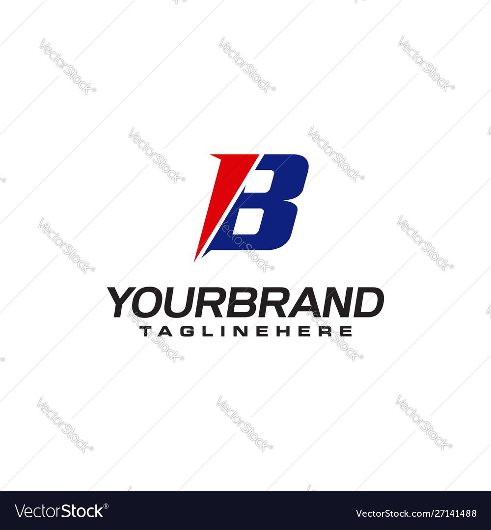 Unique logo that forms letter b matches your