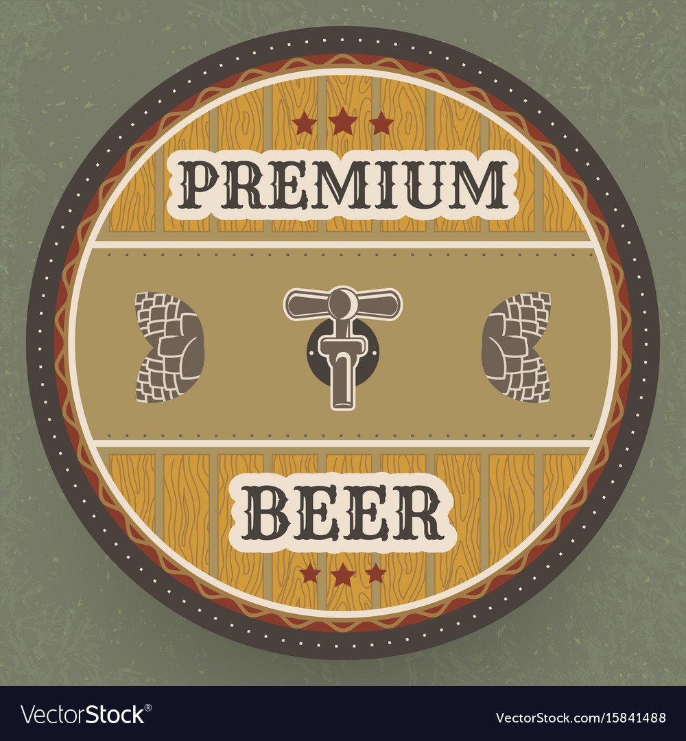 Vintage drawing for beer bar and pub vector image