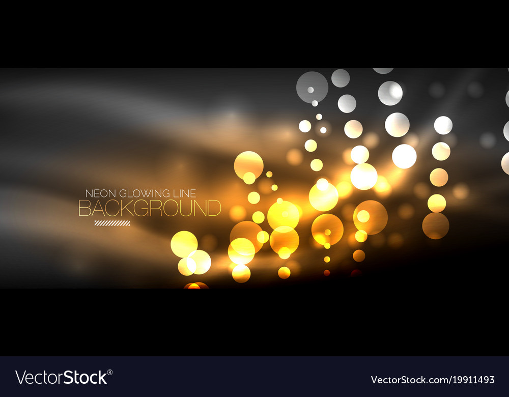 Circle abstract lights orange neon glowing vector image